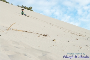 Contemplating the climb, Morgans Beach